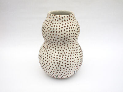 Untitled (White spotted double gourd)