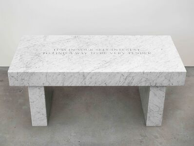 Jenny Holzer, 'THE SURVIVAL SERIES: IT IS IN YOUR SELF-INTEREST... ', 2015