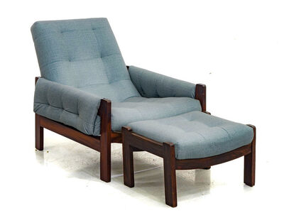 Moveis Cimo, 'Jacarandá Armchair and Ottoman', ca. 1960