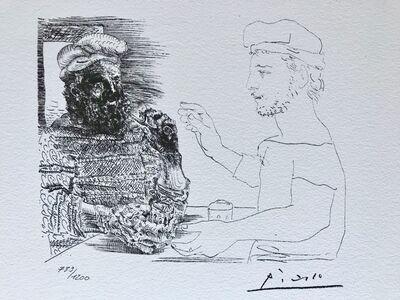 Pablo Picasso, 'Deux buveurs catalans (Suite Vollard Planche XII)', 1973