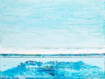 "John Schuyler, '""Strati #63"" abstract blue diptych', 2010-2017"