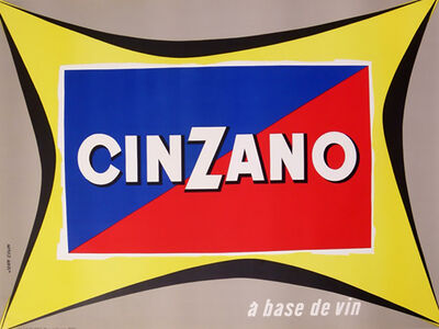 Jean Baptiste Leopold Colin, 'CINZANO A BASE DE VIN', ca. 1950