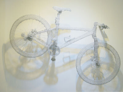 Mountain Bike in White