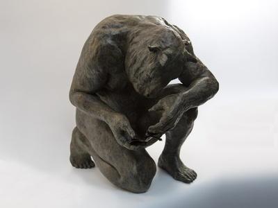 Crouching minotaur