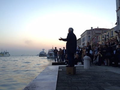 Saâdane Afif, The Laguna's Tribute (A Corner Speaker in Venice)
