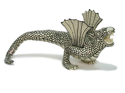 Bestiario invertido, dragón de dos patas