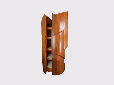 Titan, Monumental Sculptural Bar Cabinet
