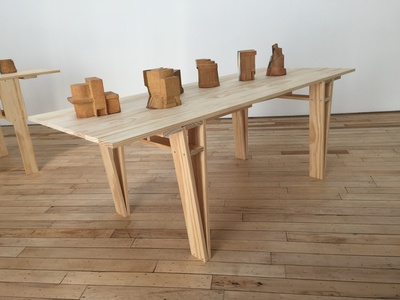 Enzo Mari Autoprogettazione Table with Models