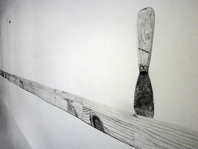 Untitled drawing (Scrap Lumber) (detail)