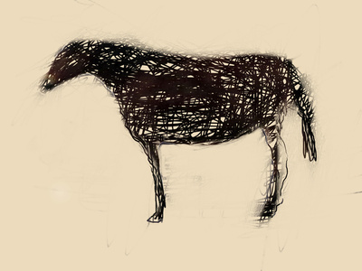 Horse with Scratches