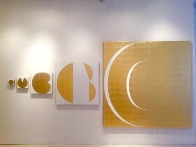 Cambio (Installation of five canvas, 10x10cm to 200x 200cm)