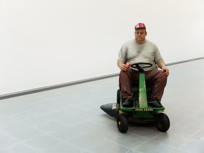 Man on Mower