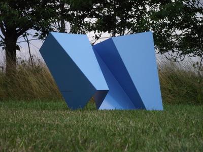 Folded blue