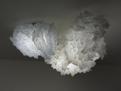 Umnaya: Soma light sculpture composed of three clouds