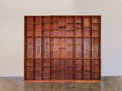 Modular Wall of Stacking Bookcases