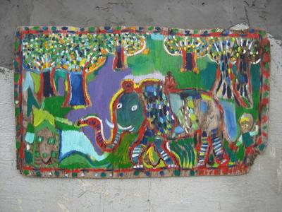 Elephant Through The Trees