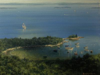 Plein Air, View of Camden Harbor