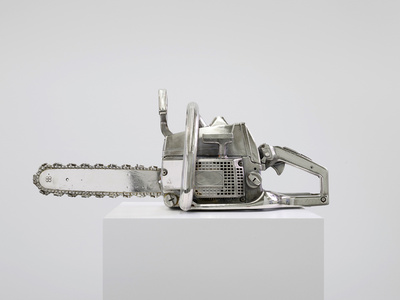 Chainsaw, chromed