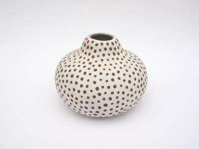Untitled (White spotted gourd)