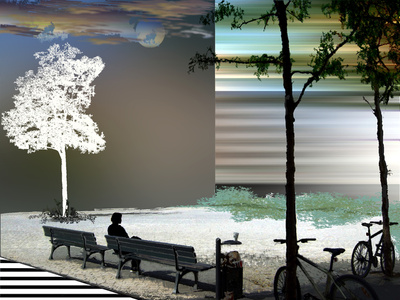 Woman sitting on a park bench wondering why he stopped writing to her