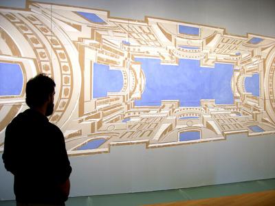 """""""Illusionistic architecture for the bolt of St Ignatius"""" AfterAndrea Pozzo"""