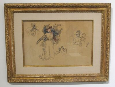 Pierre-Auguste Renoir, 'Etudes Femme au Jardin'
