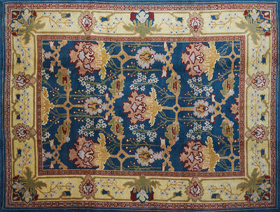 Style Of William Morris, 'French Accents contemporary room-sized wool rug'