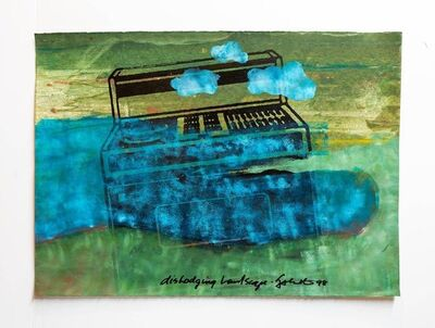 "Iain Baxter&, 'Iain Baxter& ""Dislodging Landscape"" Conceptual Monoprint Painting', 20th Century"