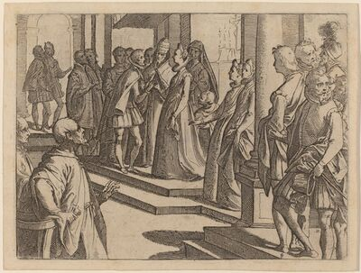 Raffaello Schiaminossi, 'The Betrothal of Margaret of Austria to Philip III, King of Spain', 1612
