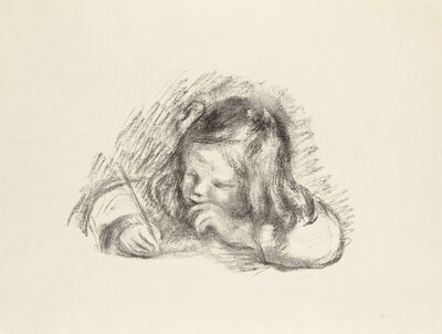 Pierre-Auguste Renoir, 'LE PETIT GARÇON AU PORTE-PLUME - PORTRAIT DE CLAUDE RENOIR ÉCRIVANT (Little Boy with a Pen - Portrait of Claude Renoir Writing)', 1902-1903