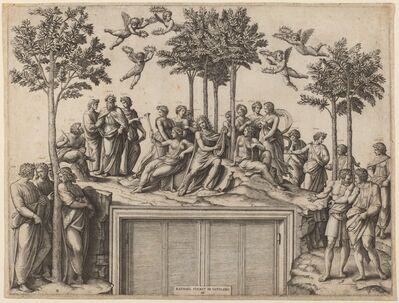 Marcantonio Raimondi after Raphael, 'Parnassus'