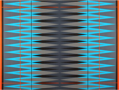 Pablo Griss, 'INTERVENTION Teal.Grey.Orange.Black', 2014