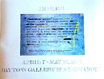 Shusaku Arakawa, 'Arakawa at Dayton's', 1973