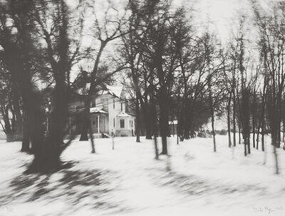 Erik Hougen, 'Twenty Miles in Eight Hours 10:40:34  (house w snow)', 2015