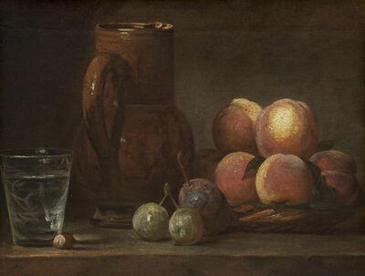 Jean-Siméon Chardin, 'Fruit, Jug, and a Glass', ca. 1726/1728