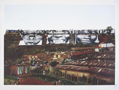 JR, 'In Kibera Slum, train passage 1', 2010