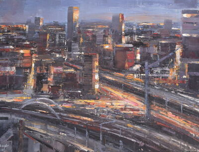 Steven Bewsher, 'City Lights from Beetham Tower'