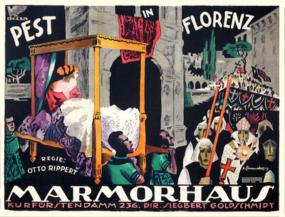 Josef Fenneker, 'Pest in Florenz - Marmorhaus Theater', 1919