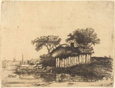 William Byron after Rembrandt van Rijn, 'Cottage with White Paling'