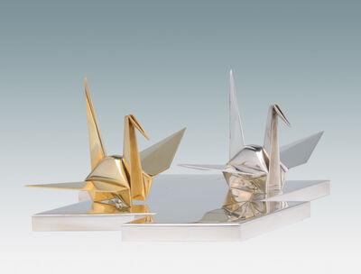 Nakamura Kenji, 'Pair of Ornaments of Origami Cranes', ca. 1930s