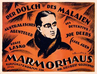 Josef Fenneker, 'Der Dolch Des Malaien - Marmorhaus Theater Germany', 1919