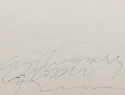 Cy Twombly, 'Cy Twombly Colosseo Roma', 1958