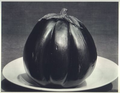 Edward Weston, 'Eggplant on Plate', Negative 1929; printed in the 1970s by Cole Weston