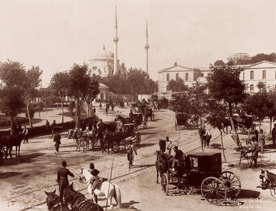 Abdullah Brothers, 'Dolmabahçe Mosque and Square', Late 19th century