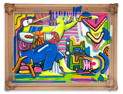Mike Perry, 'DUCK PERSON PLAYING A BLOOOOBY INSTRUMENT', 2018