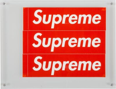 Supreme, 'Stickers (Red) (three works)'