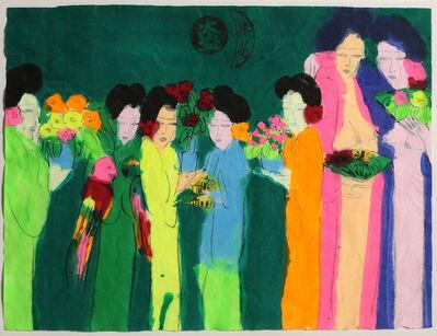 Walasse Ting 丁雄泉, 'Seven Geishas', ca. 1980