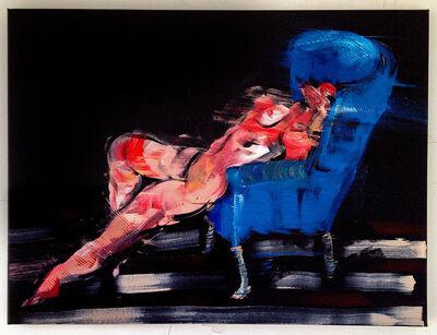 Bill Dunlap, 'Nude in Blue Chair', 2015