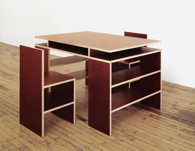 Donald Judd, 'Desk and Two Chairs', 1992