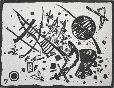 Wassily Kandinsky, 'Woodcut for the Ganymede Portfolio | Holzschnitt für die Ganymed-Mappe', 1924